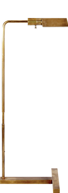 """William Pharmacy Floor Lamp Hand-Rubbed Antique Brass  Adjustable Height 33"""" - 41¼""""   VCSP1508HAB"""