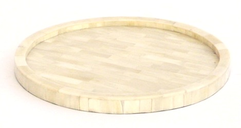 "Round Bone Tray   12dx1""h   LN344040"