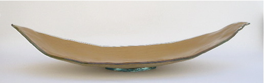 Canoe Glass Tray  37×14×7h   RL182G   Shown in Gold  Available in other colors and metal leafs