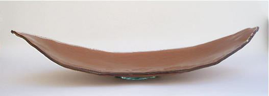 Canoe Glass Tray  37×14×7h   RL182C   Shown in Copper  Available in other colors and metal leafs