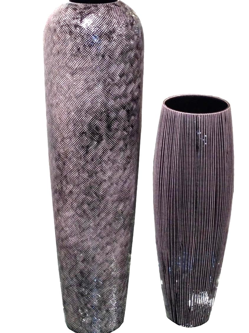 Textured Black Ceramic Vases     9dx36.5h   OG17CH7359     8dx22.5h   OG17CH7361