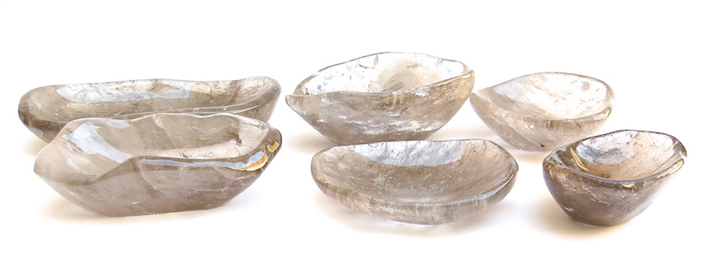 SMOKEY QUARTZ CRYSTAL BOWLS