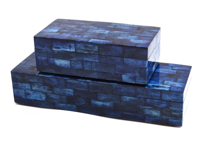 Ink Blue Bone Box