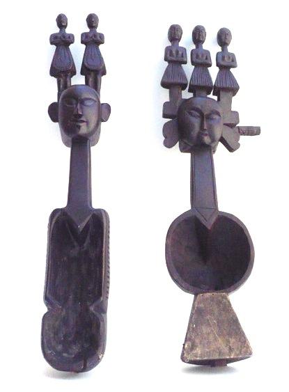 Vintage Nepalese Habinjo on Iron Stand   7x5x33h +/-  SIM295AA