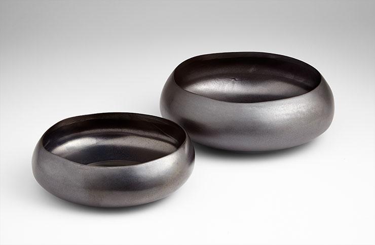 Ceramic Bowl with Gunmetal Glaze