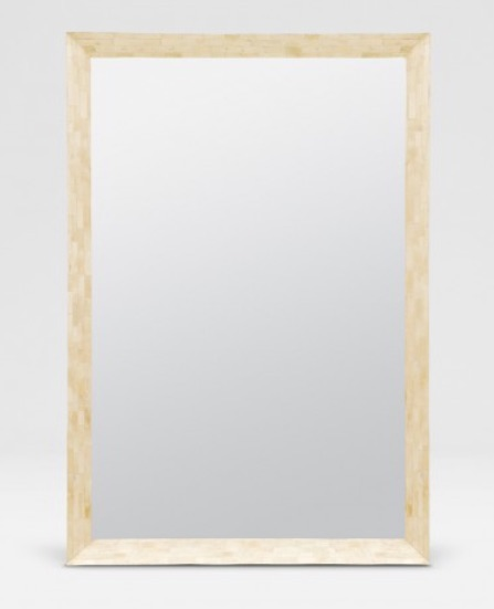 Rectangular Clamstone Mirror