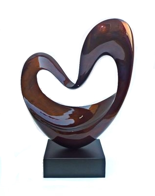 "Floating Heart,  Lacquer Sculpture   32""h   HALPSC041"