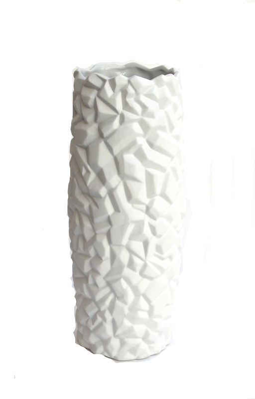 """Porcelain Iodite Vase  4.5""""d x 14""""h   BUPIO"""