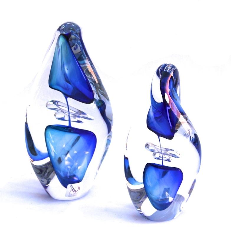 """Murano Glass Twist Sculpture Aqua/Blue     5×5x11""""h   MB25113     5×5x9""""h   MB25115"""