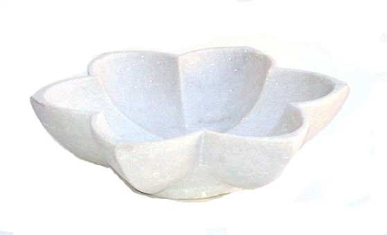 White Marble Star Bowl   15dx4h  MGJASMIN