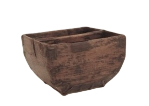Vintage Chinese Rice Bucket 14×14×9h DLSDM57