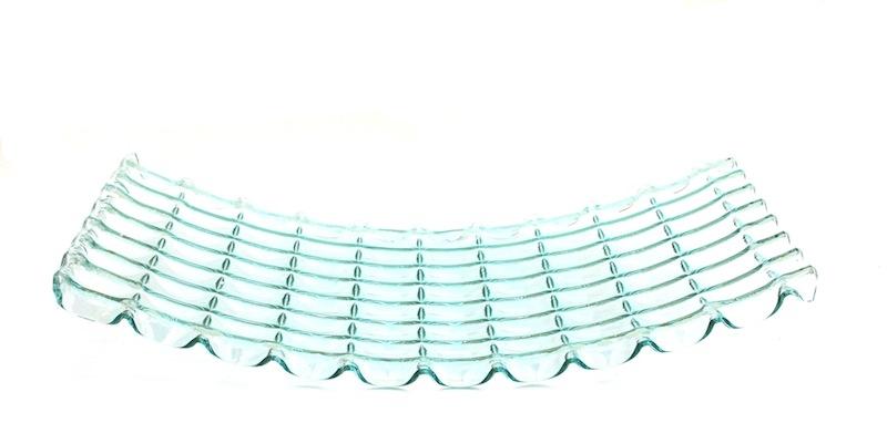 Glass Lattice Tray, Clear   30×16×5h   RLC269CL