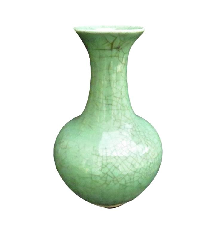 Celedon Vase  7dx15h+/-  OP193
