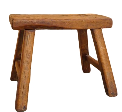 Antique Chinese Wood Stool 21×12×22.5h OP041