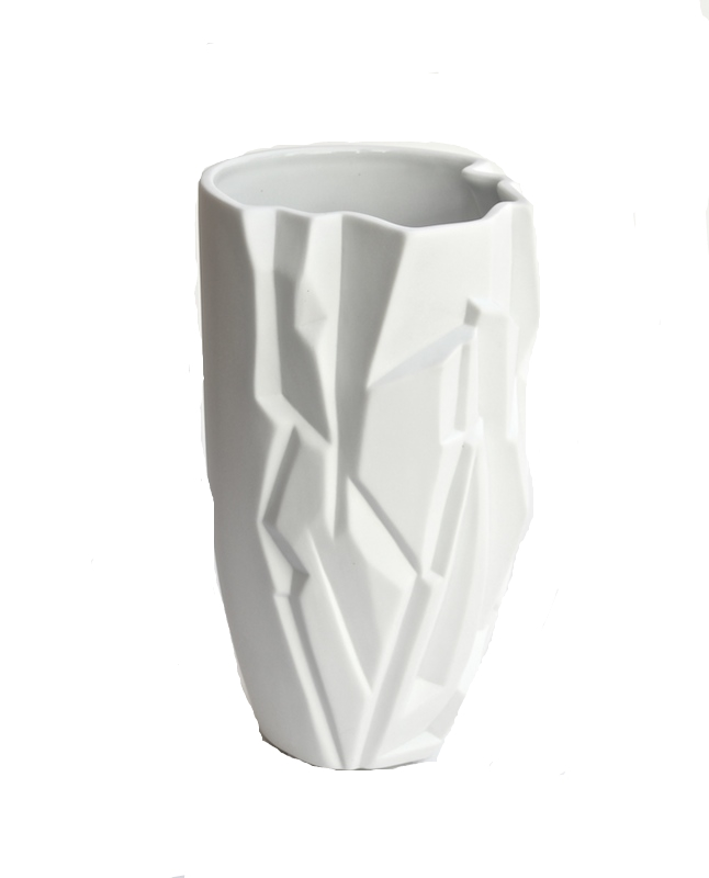 "Porcelain Glacia Vase   5.5×10""h   BUPGLA"