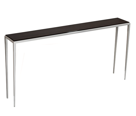 Ebony/Polished Nickel Thin Sofa Back Console  60x10x30h  IH135092