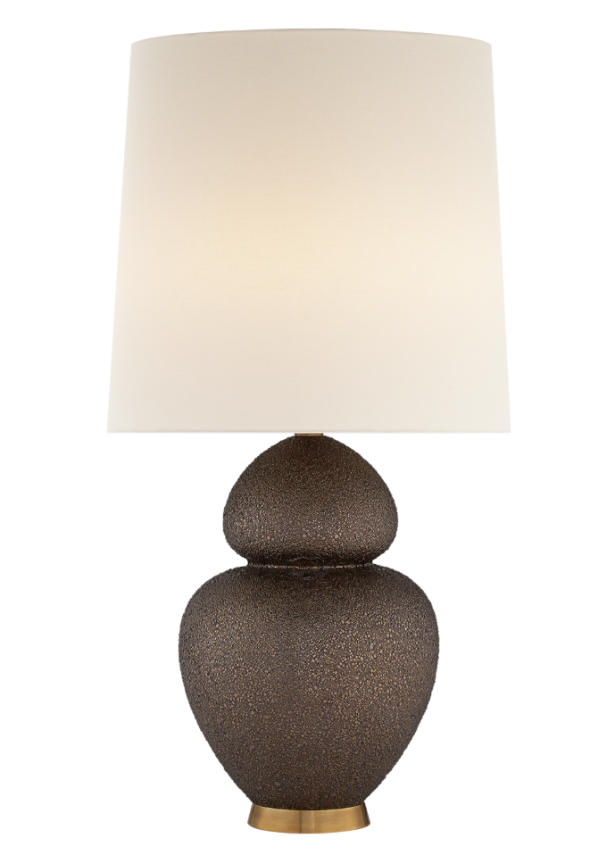 Michelena Lamp, Chalk Burnt Gold w/Linen Shade  33.5h Adj.  VCARN3622BG-L