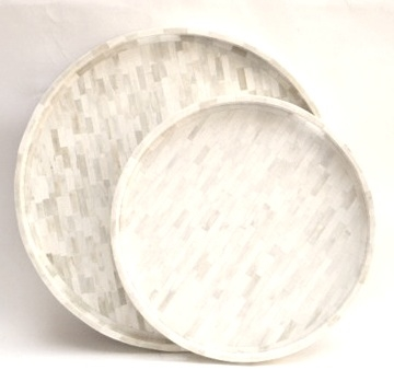 "Round Bone Tray     22dx2""h   BIP844     30""d x 2.25h   BIR77     18""dx2""h Not Shown   BIP400"
