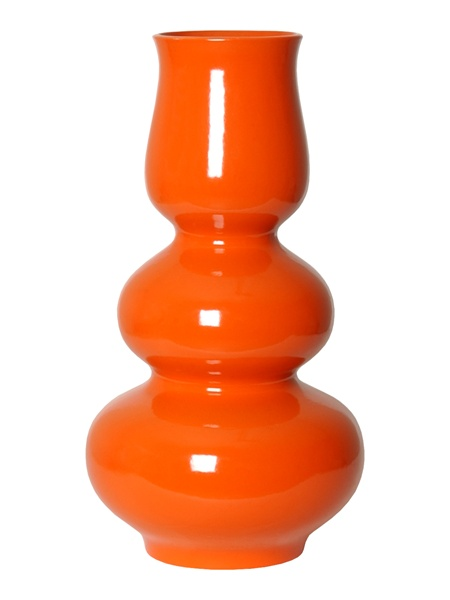 "Triple Chalice Gourd in Orange    10.5×20""h   EY4506O"