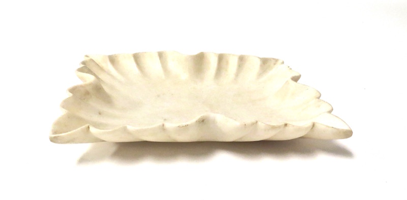 Fluted Rectangular Marble Tray  12x10x2h  GV7.90559
