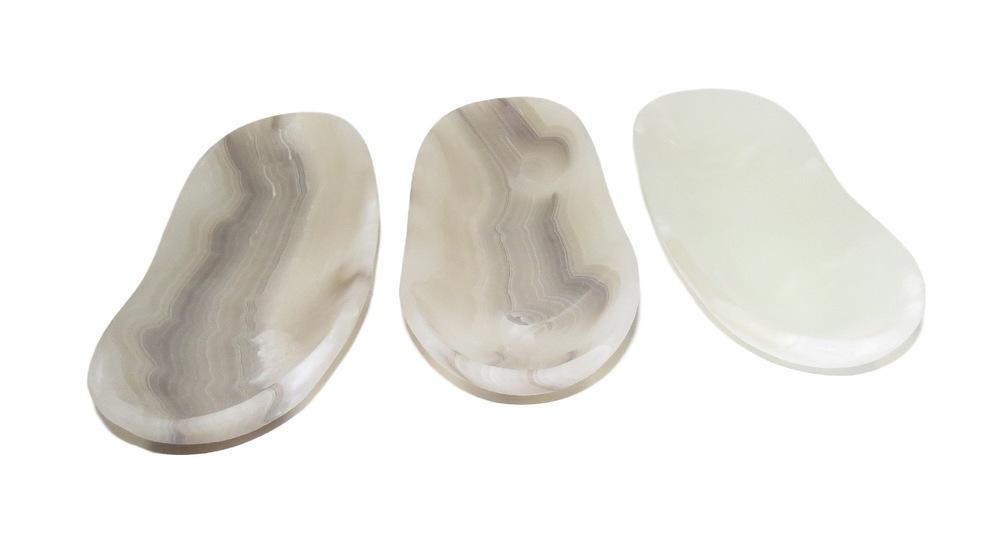 White Aragonite Oblong Tray  15x5.5x2h  MX012