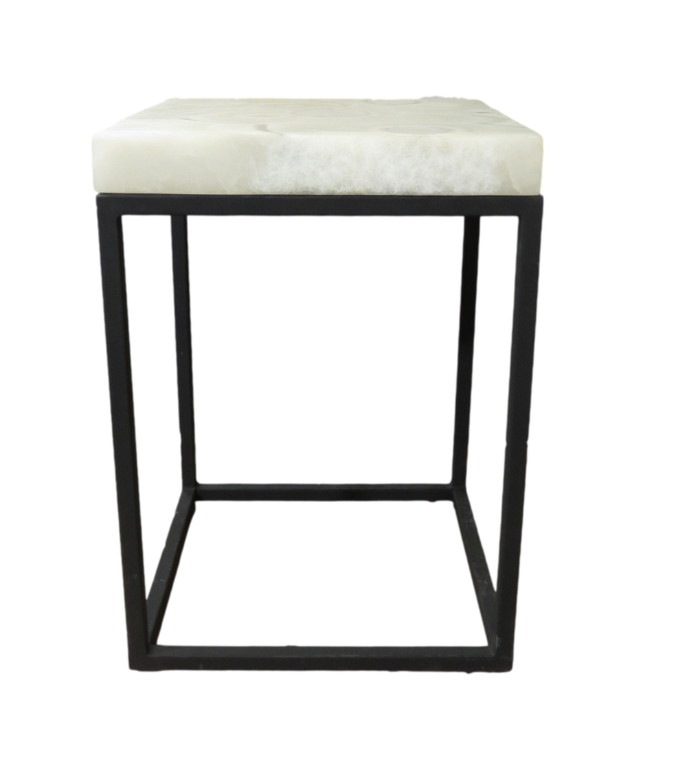 Square Grey Aragonite Table/Pedestal  MX004L  16x16x38h  MX004M  16x16x30h  MX004S  16x16x26h