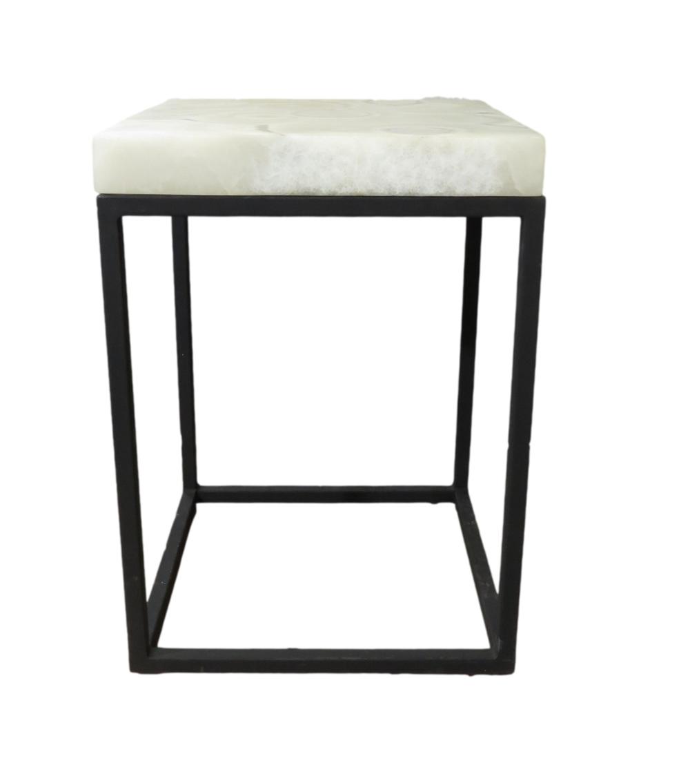 Square Grey Aragonite Table/Pedestal  MX004L  16x16x38h  MX004M  16x16x30h  MX004S  16x16x26h