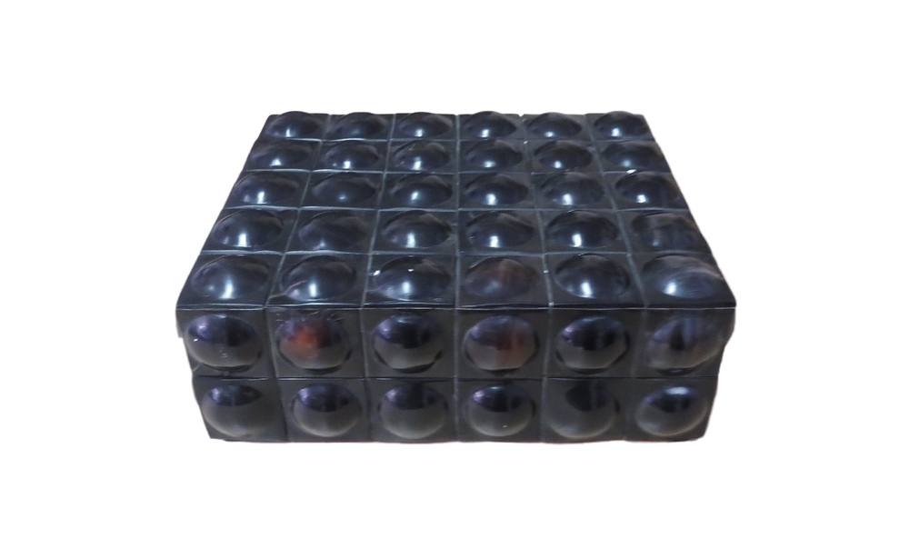 "Ebony Horn Bubble Box  BIJ166L  9x8x3""H"