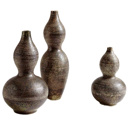 Ceramic Gourd Vase *Not Water Tight*  GV7.10163  8dx22h  GV7.10163  8dx22h  GV7.10165  9dx15.5h