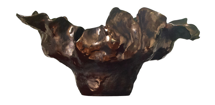 Bronze Ceramic Meteor Bowl  22x12x10.5h  GV1.10168