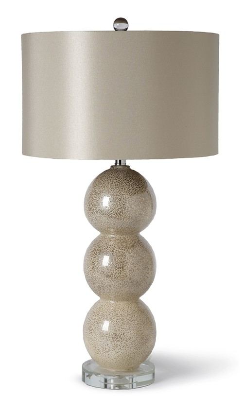 "Moderne Glass Lamp  17x29.75""h  RD55-8080"