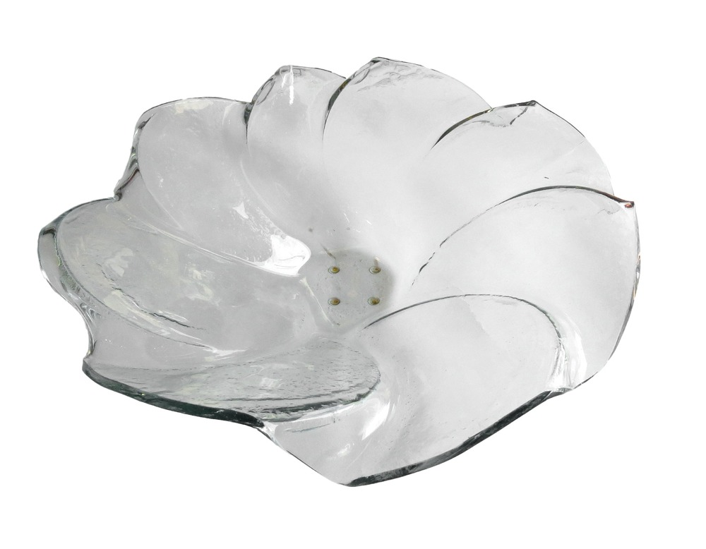 Glass Petal Bowl, Clear  22dx6h  RLC440CL