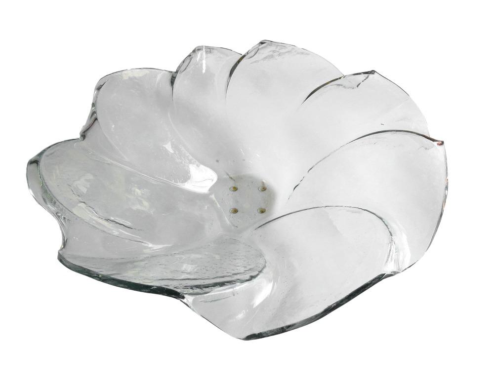 Glass Petal Bowl, Clear  22dx6h  RLC440CL