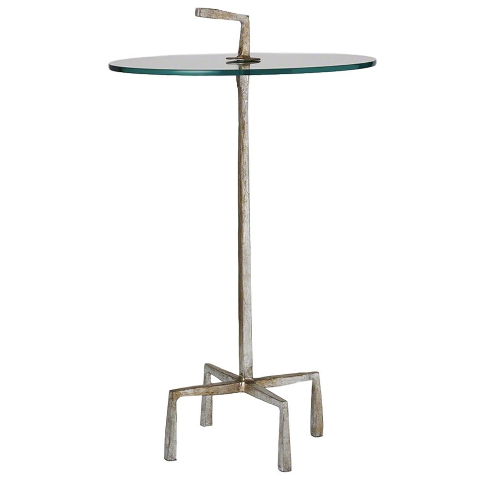 Quad Pod Accent Table in Silver Leaf  16dx26h  GV7.80263