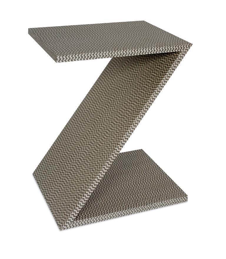 Z Table Chevron Veneer  14x17x21h  OG09-ZOTCHEV