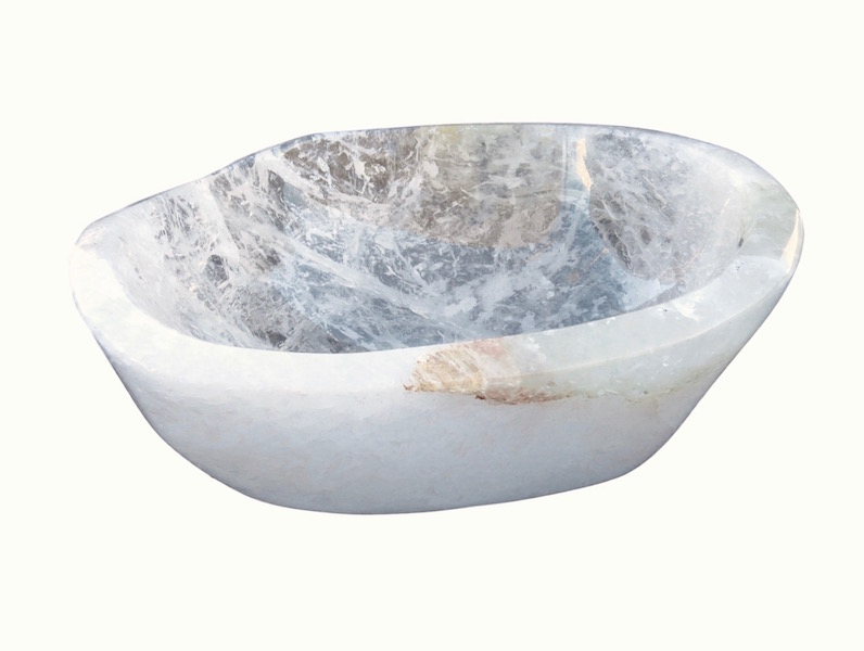 Quartz Crystal Bowl  12.5x10.5x5h  MT379