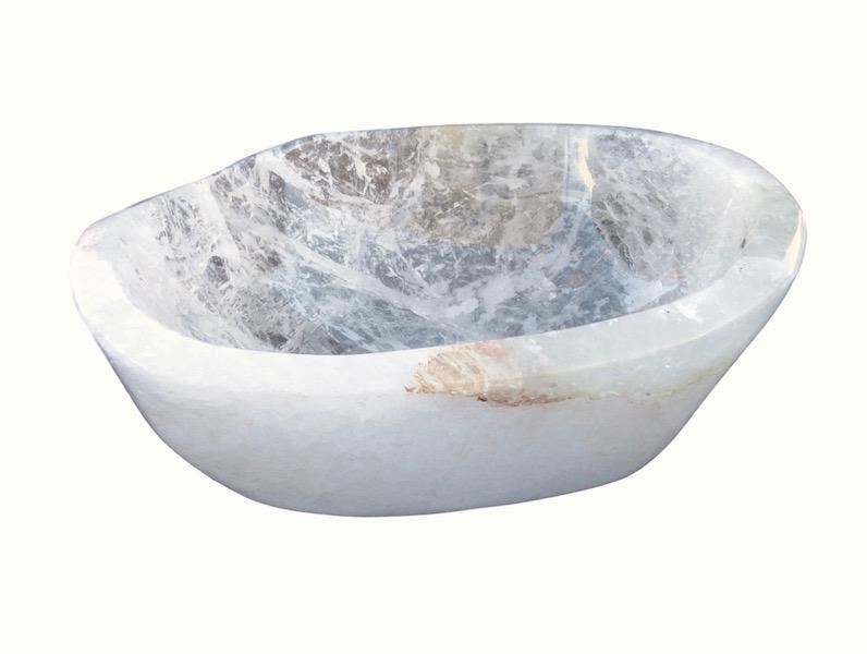 Quartz Crystal Bowl  12.5x10.5x5h  MT379