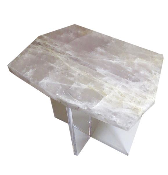 Quartz Crystal/Acrylic Table  20.5x13x22h MT394.4AA  Other pieces available