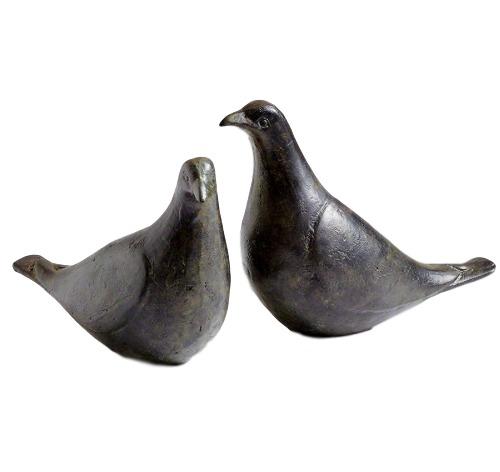 "Pair of Doves, Oiled Bronze  3x5.5-6.5""h  GV7.80435"
