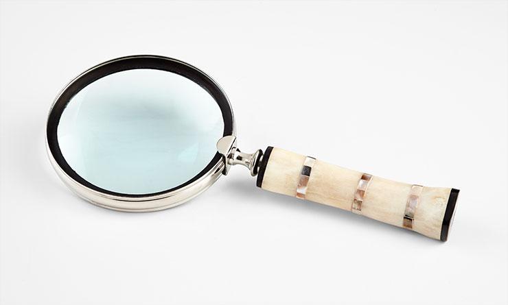 "Bone/MOP Magnifying Glass 13"" CD7053"
