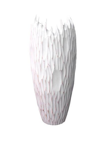 "Tamarind Stunning Organic Vase, Whitewash,  6.5""dx15""h  BUIISOV"