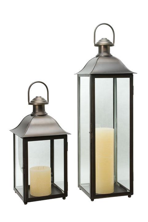 Bronze Charleston Lantern, SS316, Marine Grade  CA814413  10x10x24h  CA814414  10x10x30h