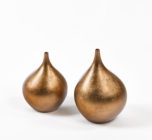 Drop Vase Gold  HA22GS  5x7H  HA22GL  5.5x9h