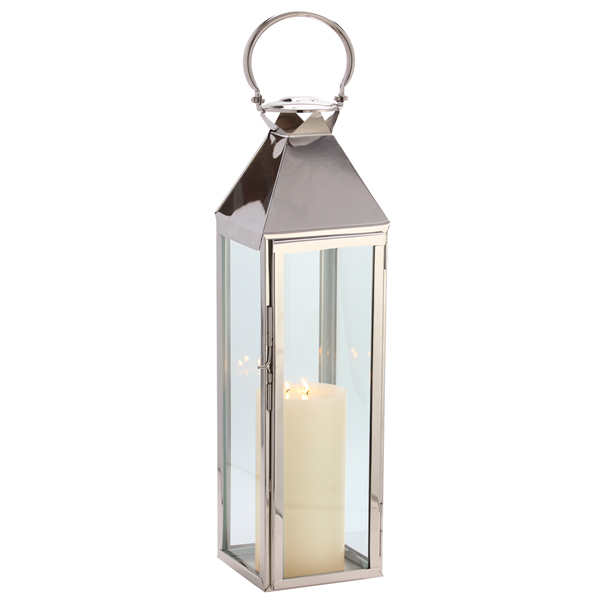 Polished Steel Harbor Lantern, SS316  9x9x30h  CA979914