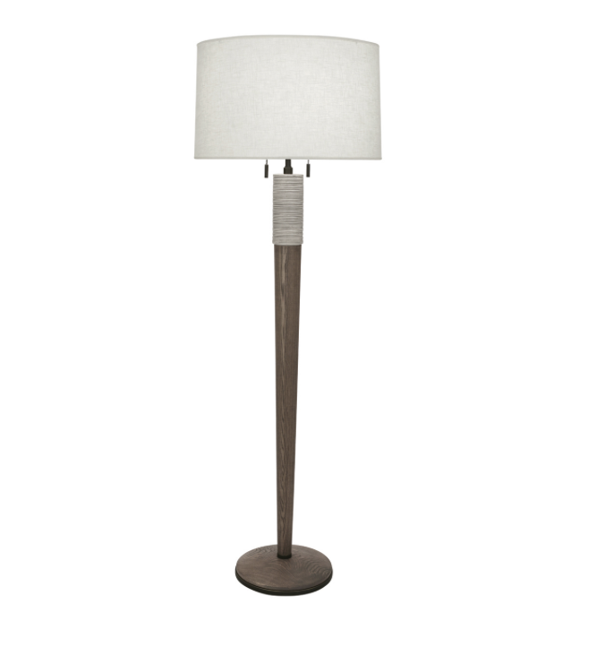 Berkley Floor Lamp, Wood/Ceramic  21dx63.5h  RA573W