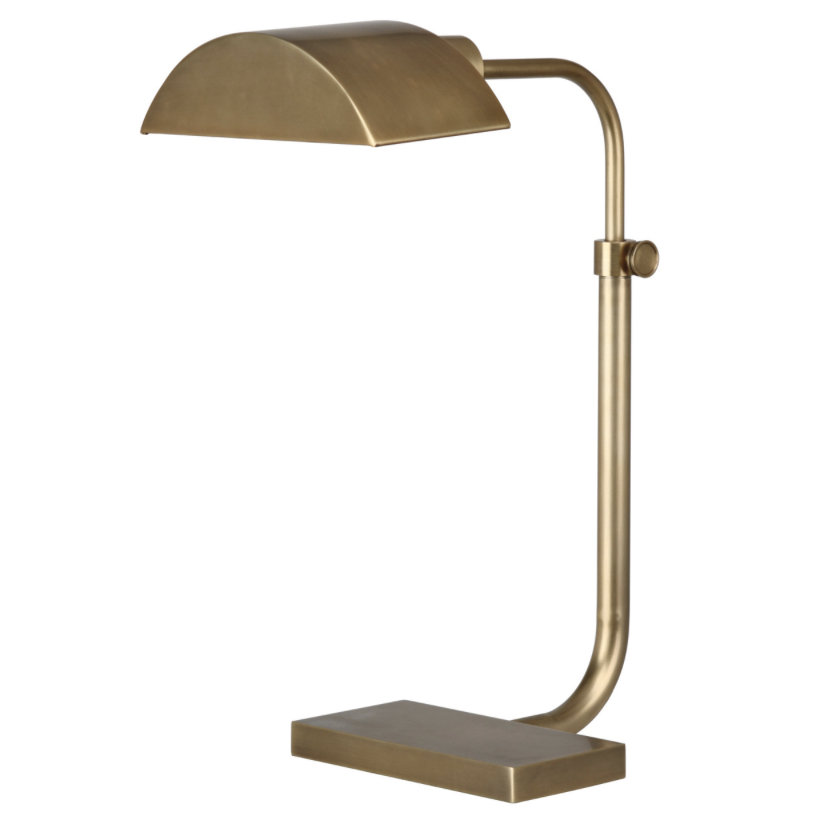 Koleman Lamp, Brushed Brass  13x16-23h adj  RA460