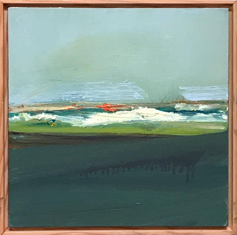"Nancy Crawford ""Horizon,"" Oil on Board  12"" x 12""  NC12X12"