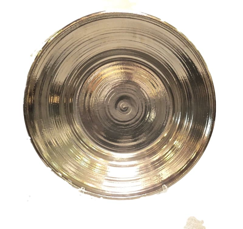 "Ceramic Low Bowl, Platinum Lustre  24dx4""h  EU9660P"