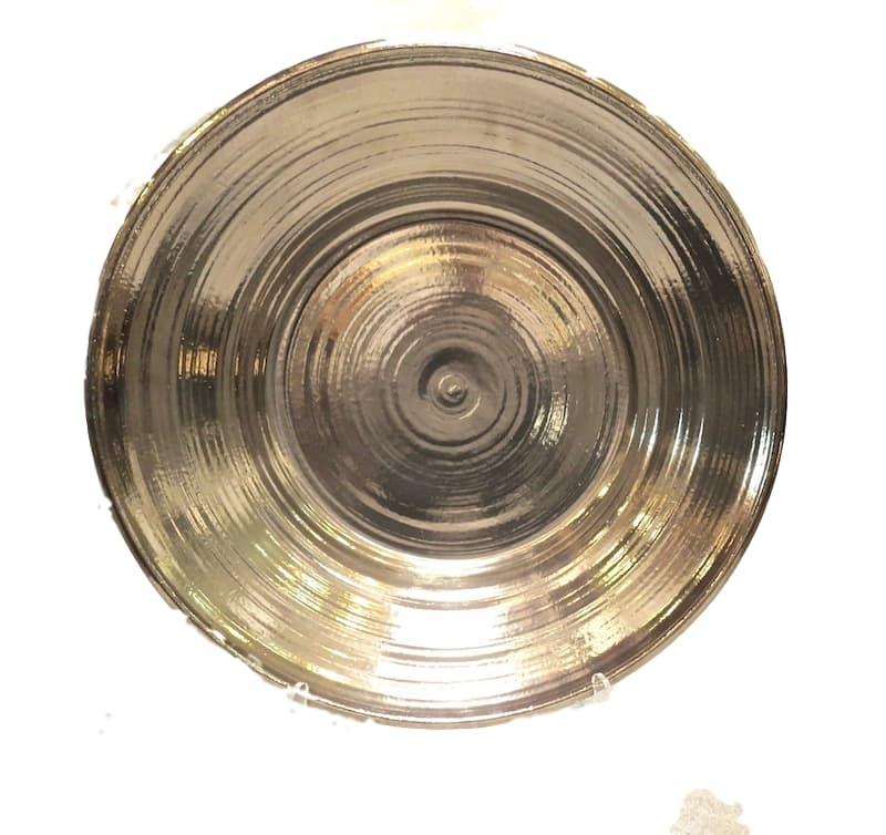 "Ceramic Low Bowl, Platinum Lustre  24dx4""h  EU9660P"