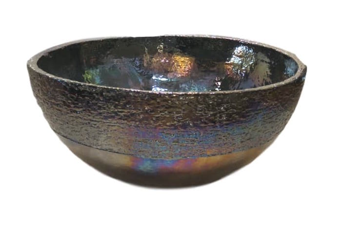 Large Ceramic Bowl, Perol Pearly Luster  19dx10h +/-  EUMIKAS50PP